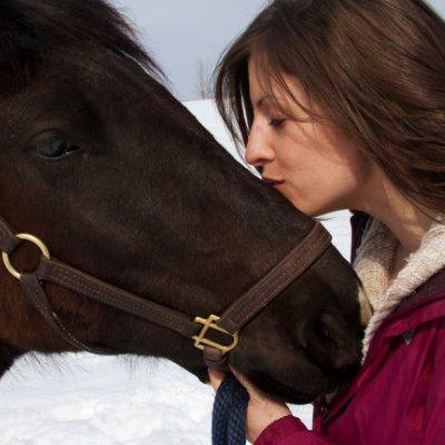 Sarah with a horse